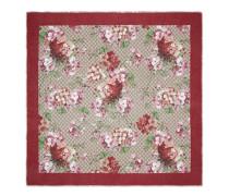 Schal aus Modal und Seide mit Blooms-Druck