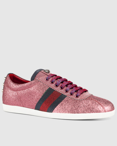 gucci damen sneaker mit glitzer und webdetail reduziert. Black Bedroom Furniture Sets. Home Design Ideas