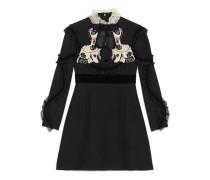 Kleid aus Wolle-Seiden-Krepp