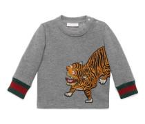 Baby Pullover aus Baumwolle mit Tigermotiv