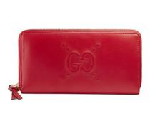 Brieftasche mit Rundumreißverschluss und geprägtem GG