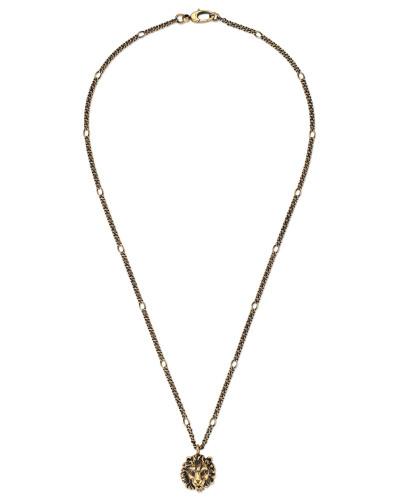 Halskette mit Löwenkopf-Anhänger