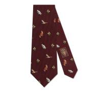 Krawatte aus Wolle und Seide mit Stickereien