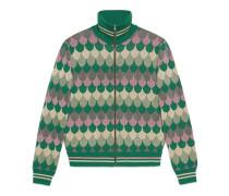 Jacke aus Wolle und Wellen-Jacquard aus Lurex