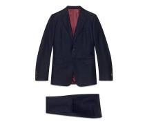 Anzug aus Wolle mit gerader Passform