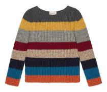 Kinder Pullover aus gestreifter Merinowolle