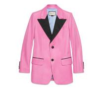 Jacke aus Leder mit zwei Knöpfen