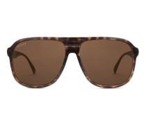 Sonnenbrille in Pilotenform mit gespritztem Rahmen aus Aluminium