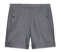 Shorts aus Panama Wolle Mohair