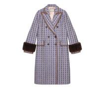 Mantel mit Vintage-Argyle