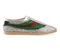 Falacer Sneaker aus Glitzerstoff mit Webstreifen
