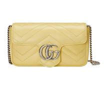 GG Marmont Super-Mini-Tasche aus Matelassé