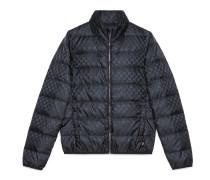 Jacke aus gestepptem Nylon mit GG Jacquard