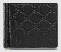Brieftasche mit Geldscheinklammer und Leder GG