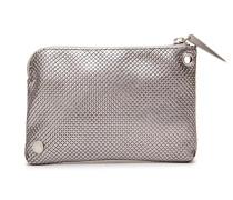 Jasmine Midi Purse Sparkling Silver Check Pattern