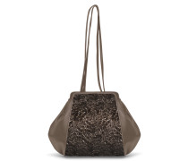 Tango Small Shoulder Bag - Slate Metallic Crush