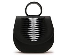 Ebony Mini Loop Bag Ray Piano Black Silver