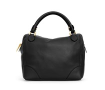 - Cassia Bowling Bag - Midnight Black / Gold