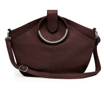 Maple Metal Midi Tote - Oxblood Red