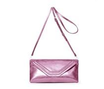 - Coral Clutch - Pink Blush Metallic