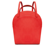 Ebony Boxy Backpack - Pepper Red