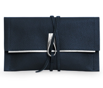 Opal Loop Clutch - Night Blue Silver
