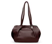 Opal Tote Two - Cordovan Red Silver