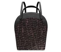 Ebony Boxy Backpack - Midnight Black Torn