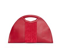 - Melo Quilted Large Tote - Royal Red Nubuk