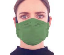 Mund-Nasen-Maske mit Filtertasche Grün