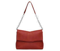 Aurical Shoulder Bag - Beetroot Red
