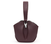Opal Loop Pouch - Cordovan Red Silver