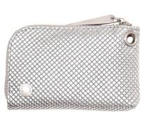 Jasmine Mini Purse Sparkling Silver Check