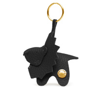Lion Keyring - Piano Black Gold