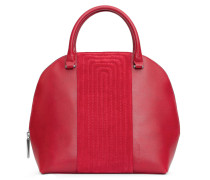 - Melo Quilted Midi Henkeltasche - Royal Red Nubuk