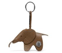 Elephant Keyring - Teak Silver