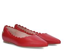 Maple Frilled Ballerina - Red - 35