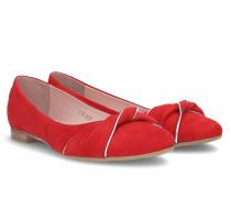 Cassia Bow Ballerina - Red - 35