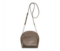 Ebony Shoulderbag Three - Stone Gray Patent