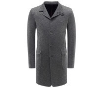Cashmere Mantel 'Sweater Coat' grau