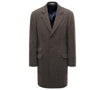 Mantel braun gemustert