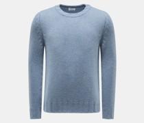 Cashmere Rundhals-Pullover rauchblau