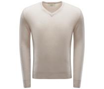 Cashmere V-Neck Pullover beige