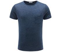 Leinen R-Neck T-Shirt 'Marlon' graublau