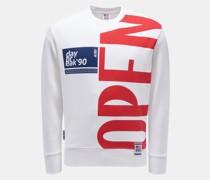 HerrenRundhals-Sweatshirt weiß