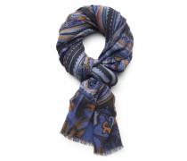 Etro - Schal blau gemustert