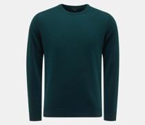 HerrenRundhals-Pullover dunkelgrün
