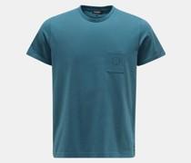 HerrenRundhals-T-Shirt petrol