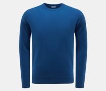 HerrenCashmere Rundhals-Pullover blau
