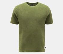 HerrenFrottee Rundhals-T-Shirt oliv
